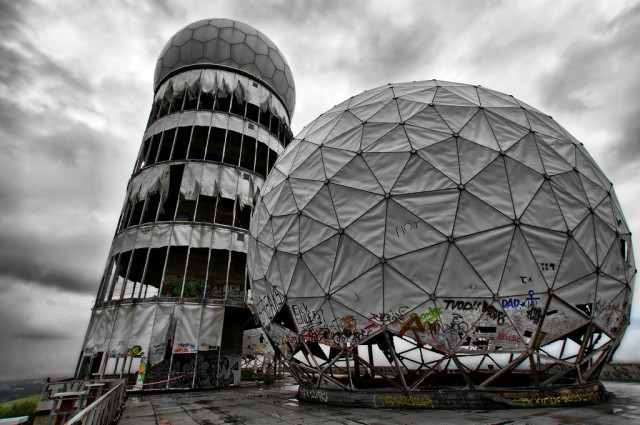 Teufelsberg, a hill in Greater Berlin, formerly served as an NSA listening station.