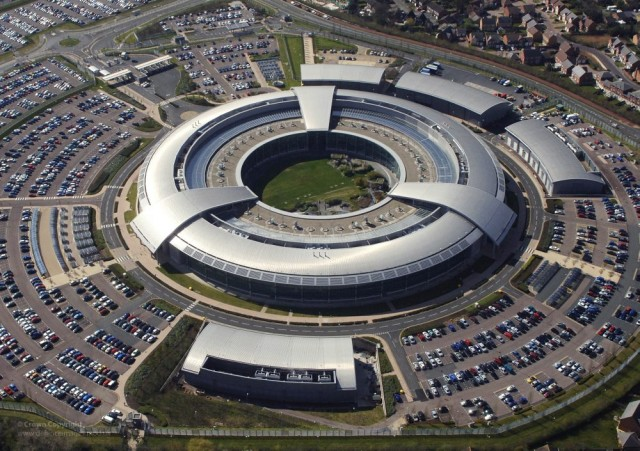 The Government Communications Headquarters is based in Cheltenham, Gloucestershire, United Kingdom.