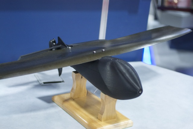 BattleHawk, a five-pound flying bomb that can wait for a half-hour before striking its GPS- and video-designated victim.