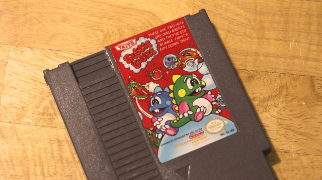 We're about to make this eBayed copy of Bubble Bobble look and play just like new.