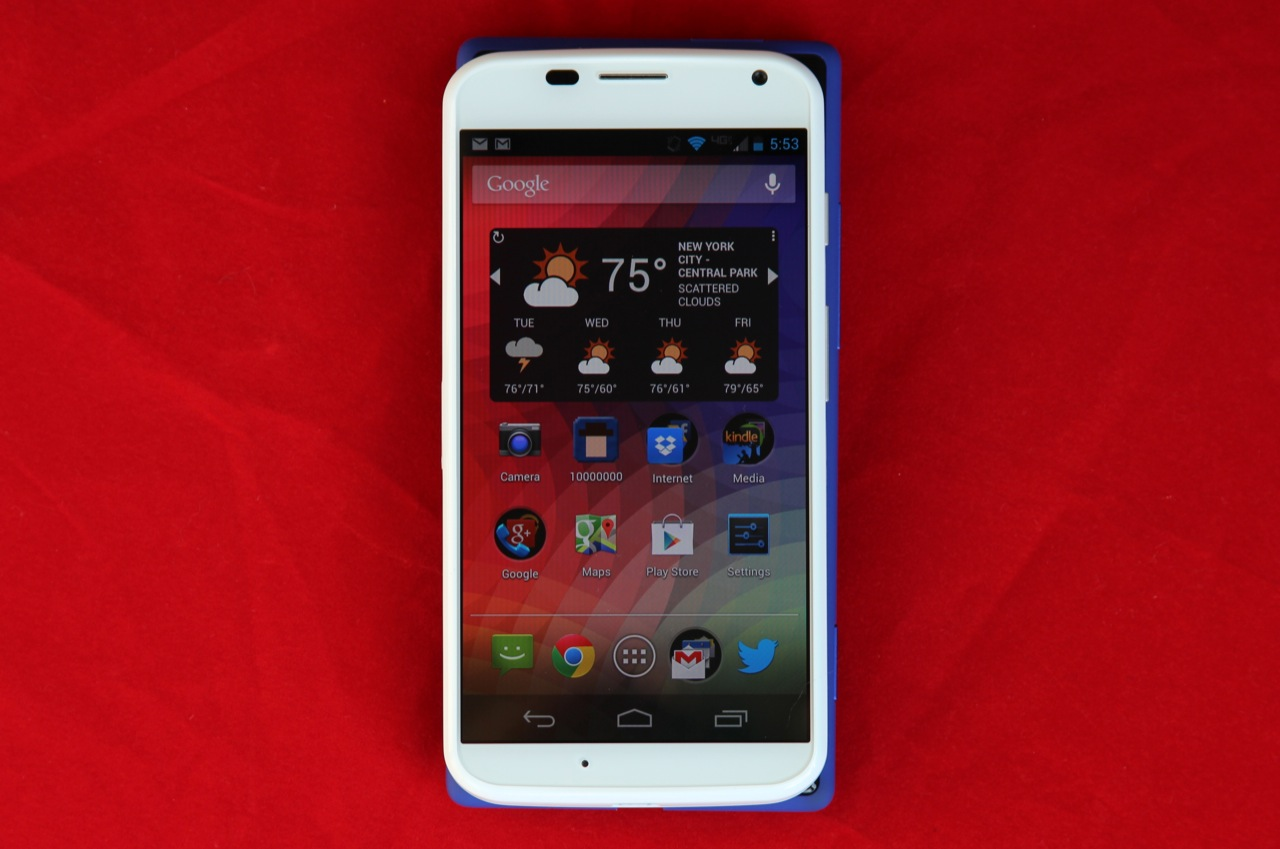 It's more similar to, but still slightly smaller than, the HTC 8X, despite that phone's smaller 4.3-inch display.
