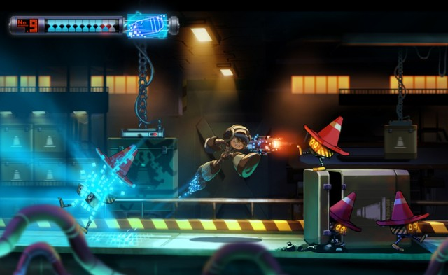 Concept art for <em>Mighty No. 9</em>.