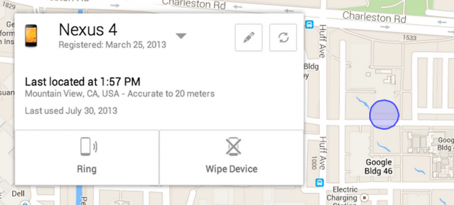 Google's Android Device Manager.