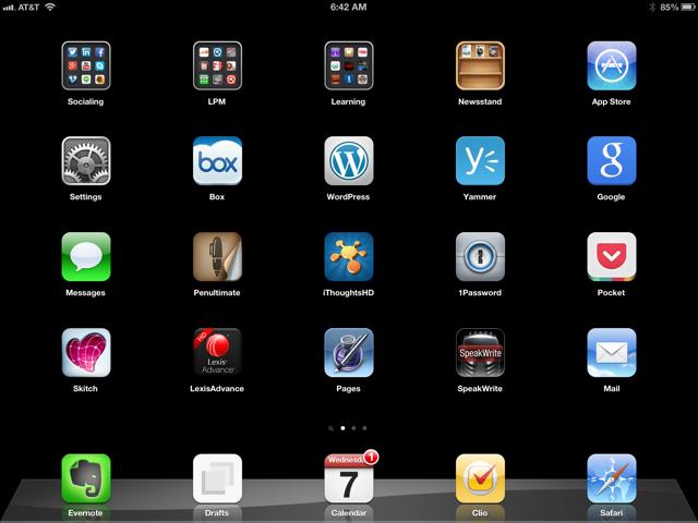 Burton's iPad.