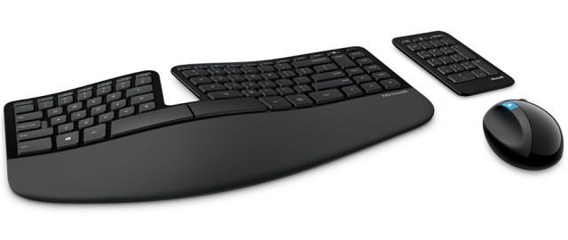 The Microsoft Ergonomic Desktop.
