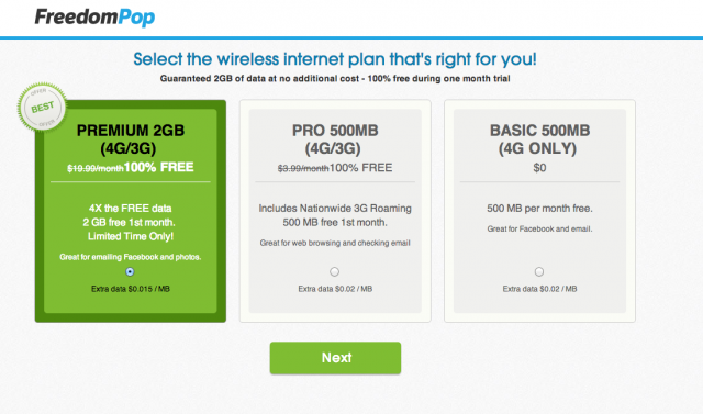 FreedomPop: Buy a hotspot, get 500MB of free Sprint LTE each month
