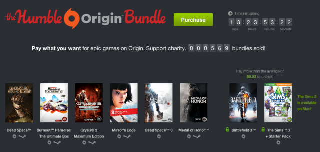 The Humble Origin Bundle, in all its glory.