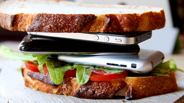 iPhones have little nutritional value, so it would be best to trade them in.