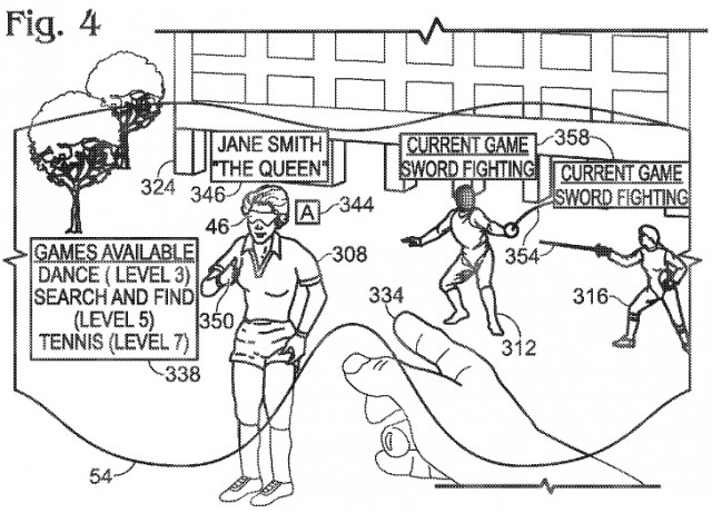An image from a patent application for Microsoft AR glasses, first revealed in 2013.