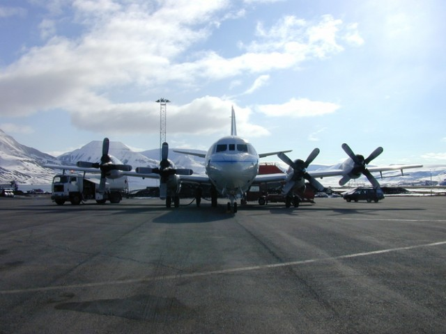 NASA aeroplane in the Arctic, 2002.