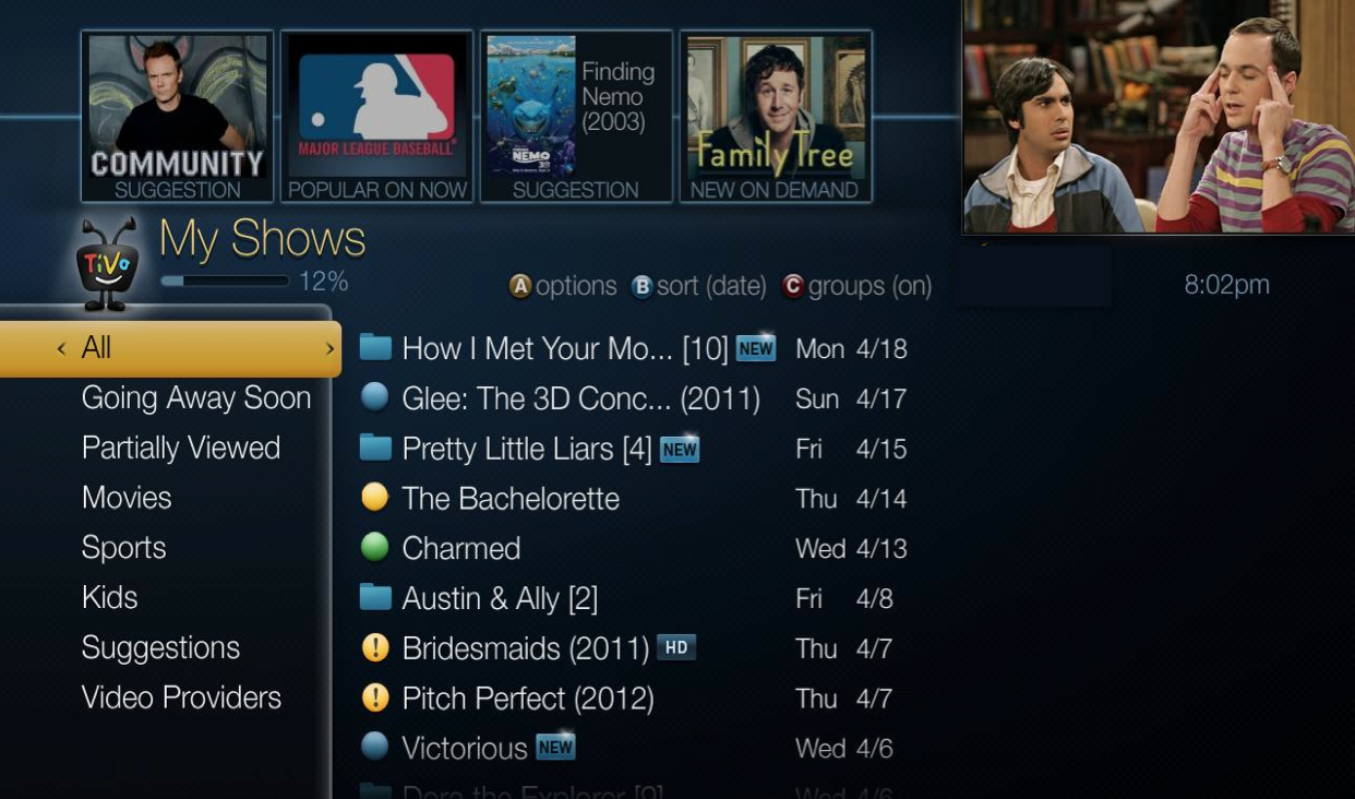 Tivo Roamio More Shows Space Search Streaming Wiring Diagram A Glimpse Of The Roamios Updated Interface