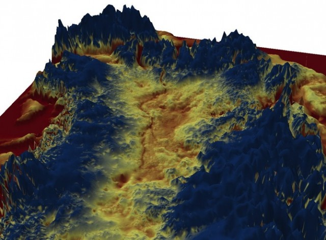 3D visualisation of the mega-canyon.