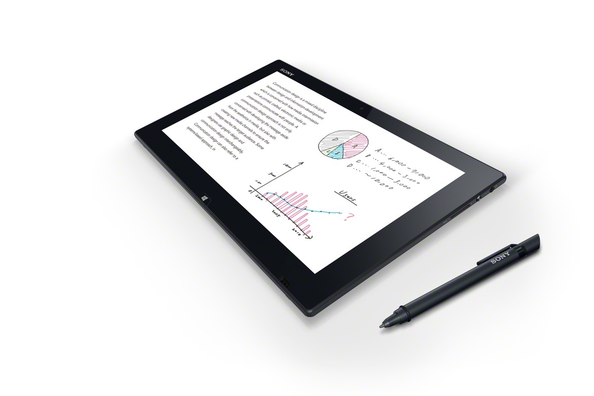 The Tap 11 includes a digitizer that can be used with a pen, though it's only compatible with Sony's own pens and not models from Wacom.