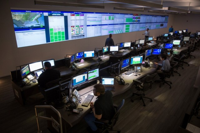 GM's IT Operations and Command Center, where all of GM's IT infrastructure—including its partner network, OnStar systems, and design and engineering systems—is monitored and controlled.