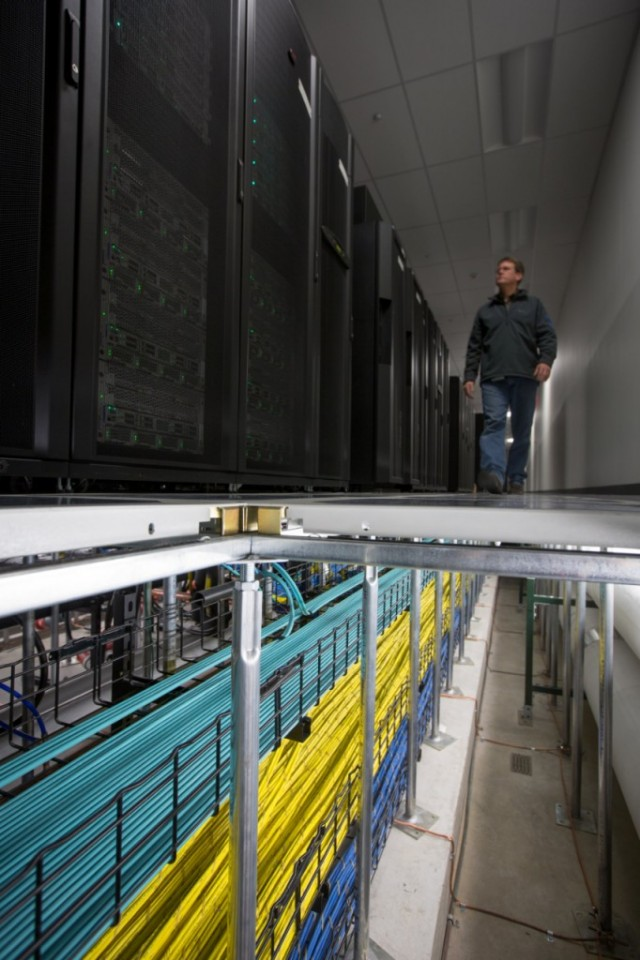 The Warren Enterprise Data  seat has a 47-inch raised floor, with redundant cooling, electrical, and network distribution   accelerate to each rack. There are two high-speed backbone rooms, separated from the data  seat by dual physical firewalls. The rooms  champion  totality of the data center's inbound and outbound connections including the corporate VoIP phone network, telepresence, and connections to GM's partners.