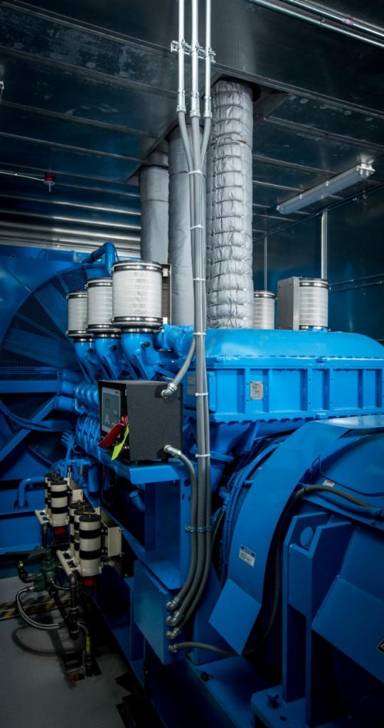 One of the Warren Enterprise Data Center's two diesel generators.