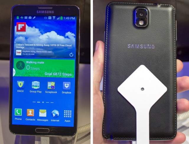 Hands-on: the Samsung Galaxy Note III and Note 10.1