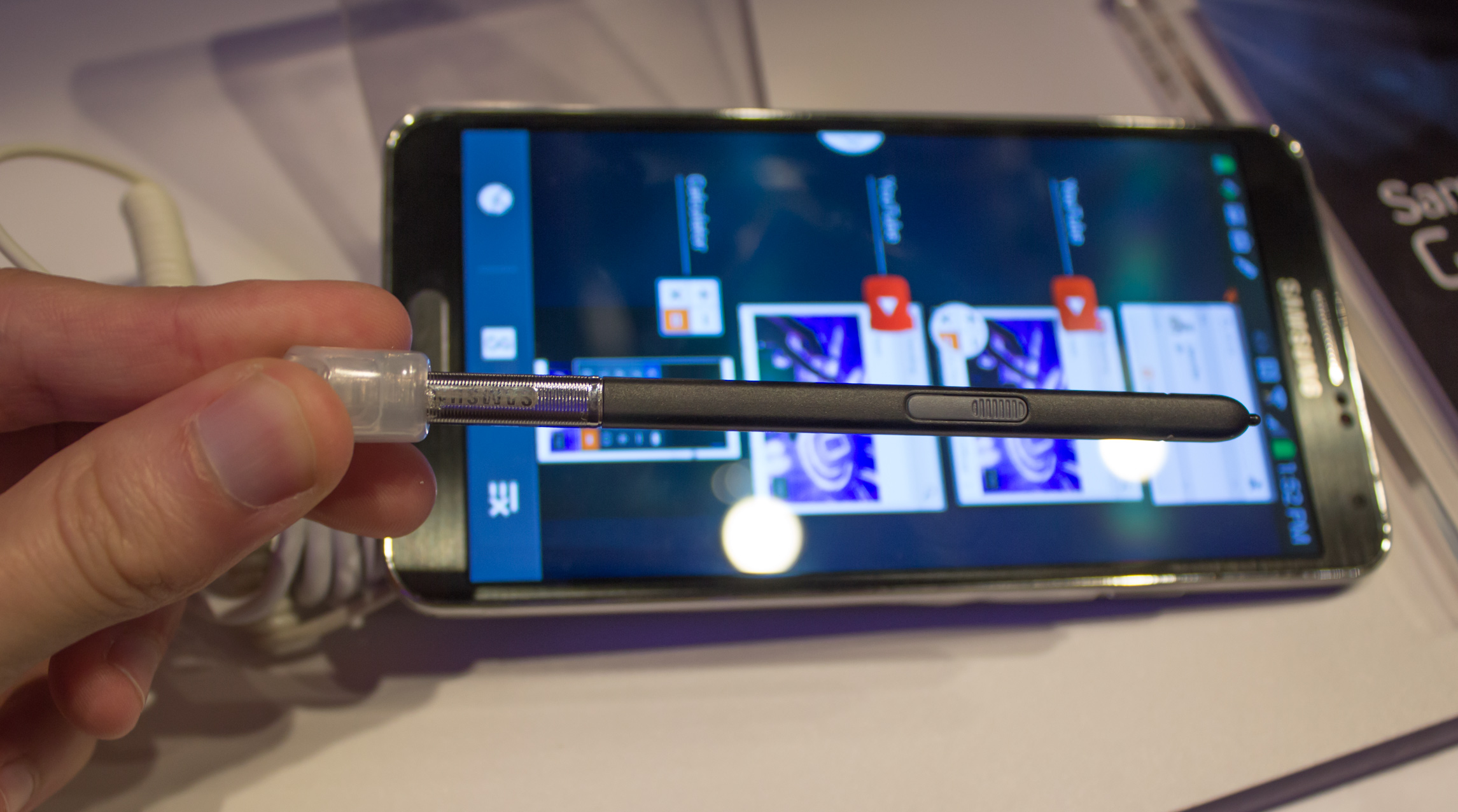 The thinner, lighter S Pen.