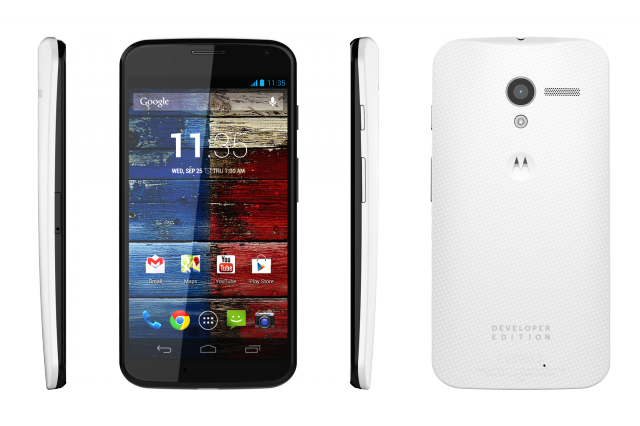 Motorola Moto X Developer Edition, priced at $649 with 32GB of storage.