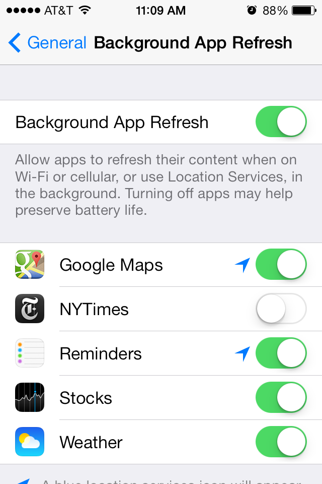 A handful of apps support Background App Refresh now, but the feature should get more useful as adoption picks up.