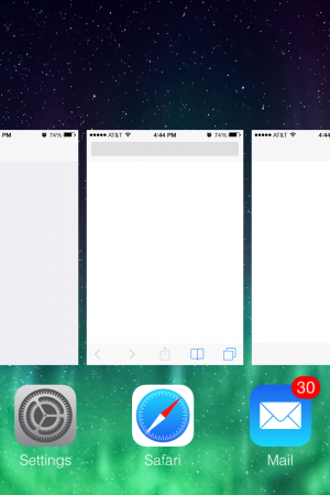 You can see the apps that were running using this bug, but you can't actually open any app that isn't normally accessible via the Control Center.