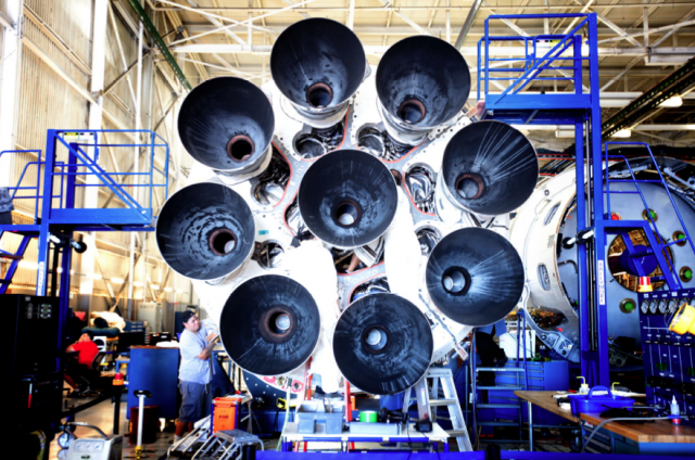 The new engines and their altered configuration on the Falcon 9 v1.1.