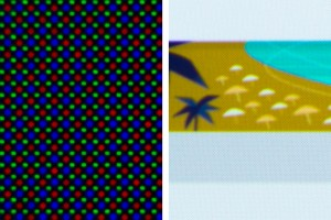 Diamond Pixels at various zoom levels.