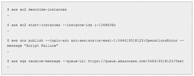 Command line for Amazon's cloud.