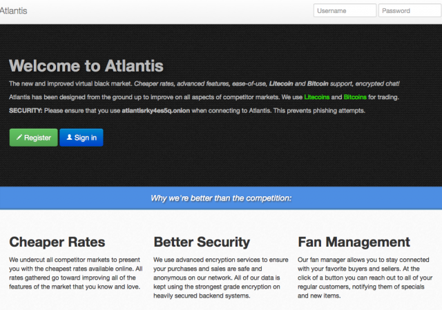 Atlantis tried to position itself as the slicker, superior cousin of Silk Road.