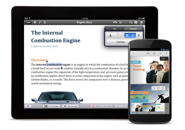 QuickOffice for iPad and Android.