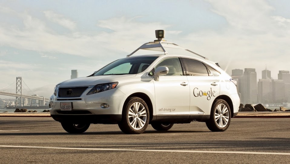 A newer model of Google's self driving car.