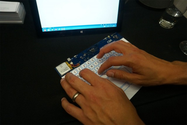 The world's thinnest touch surface proves pretty easy to type on