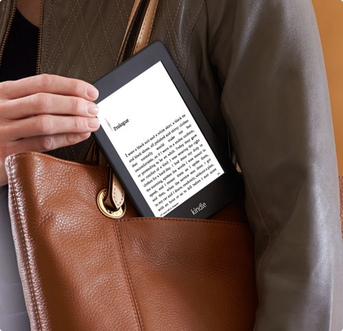 The new Kindle Paperwhite, which Amazon claims has a higher-contrast screen than before.