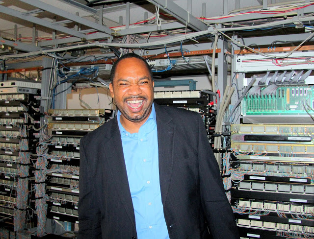 Digit All Systems' CEO Lance Lucas in the data center he hopes to turn into a cloud training center and platform for community wireless services.