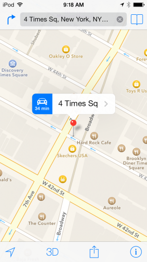 Maps in iOS 7.