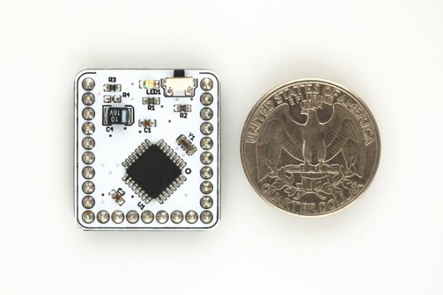 A Microduino and a quarter.