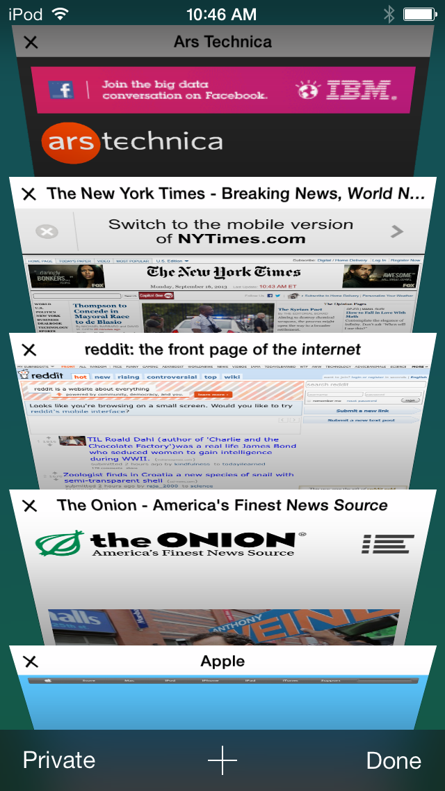 New Safari can display much more, even if its 3D tabs look kind of odd.