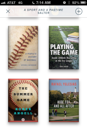 "The recommendations for ""A Sport and a Pastime."" Not quite spot-on."