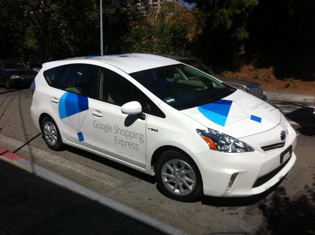The first Google Shopping Express vehicle I've ever laid eyes on.