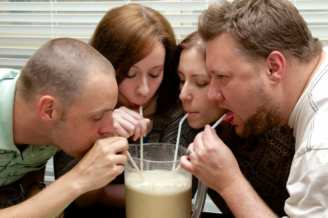 These people are consuming Soylent, which you will not be doing until at least the middle of April.