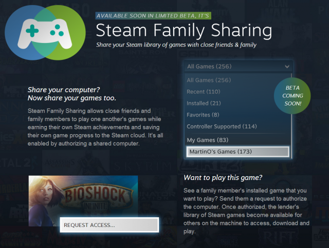 "Valve: ""Family Sharing"" for up to 10 devices coming to Steam"