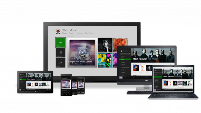 Xbox Music is coming to all the screens.