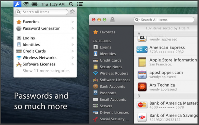1Password 4 for Mac brings upgraded security and Wi-Fi sync