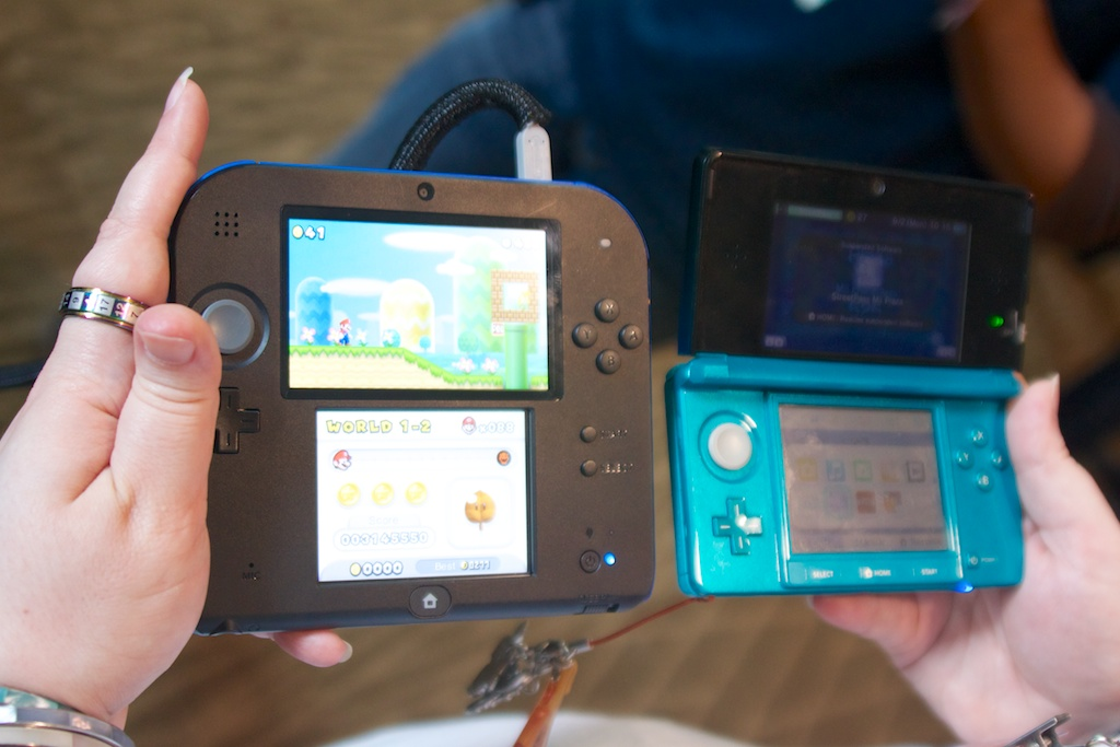 One 3DS, hold the 3D.