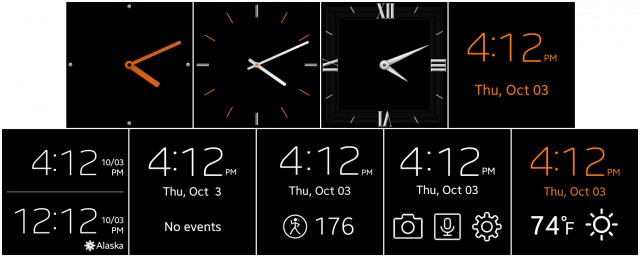 You can change watch faces.