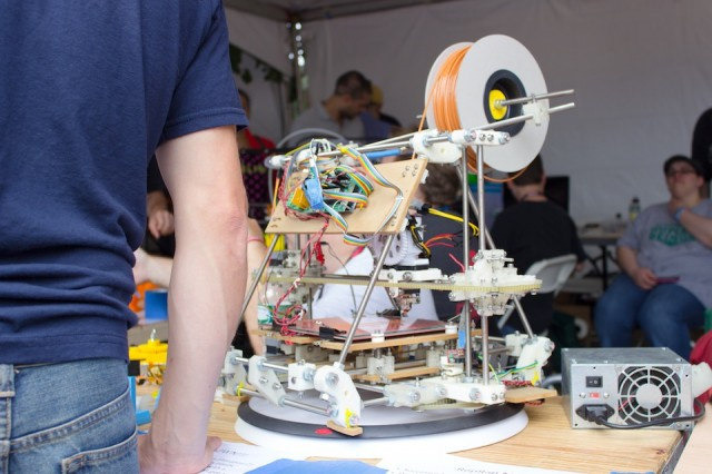 A 3D printer at the New York Maker Faire.