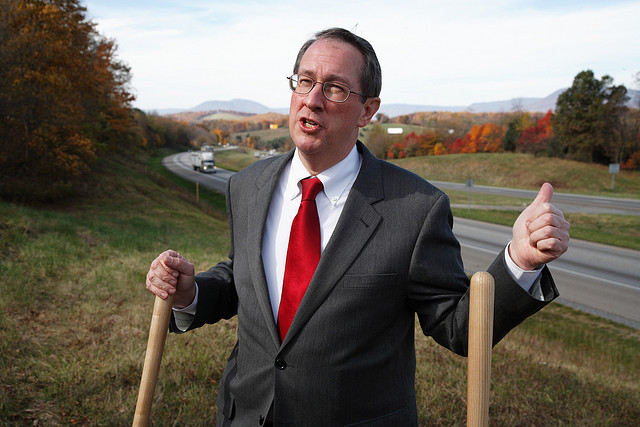 Congressman Bob Goodlatte, breaking ground in patent law reform.