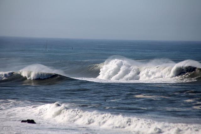The surf at Mavericks.