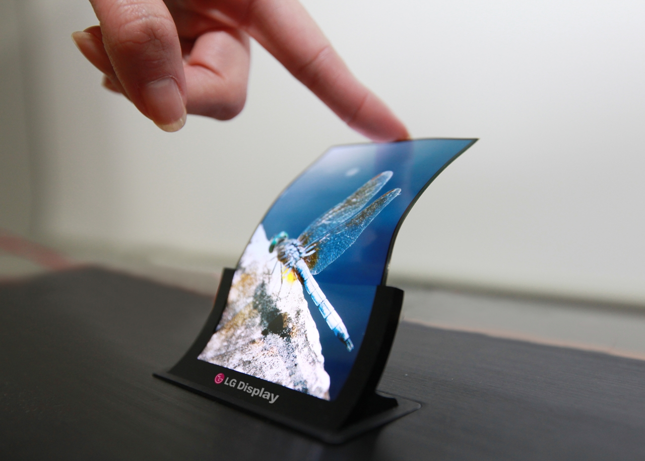 LG's bendy AMOLED display.