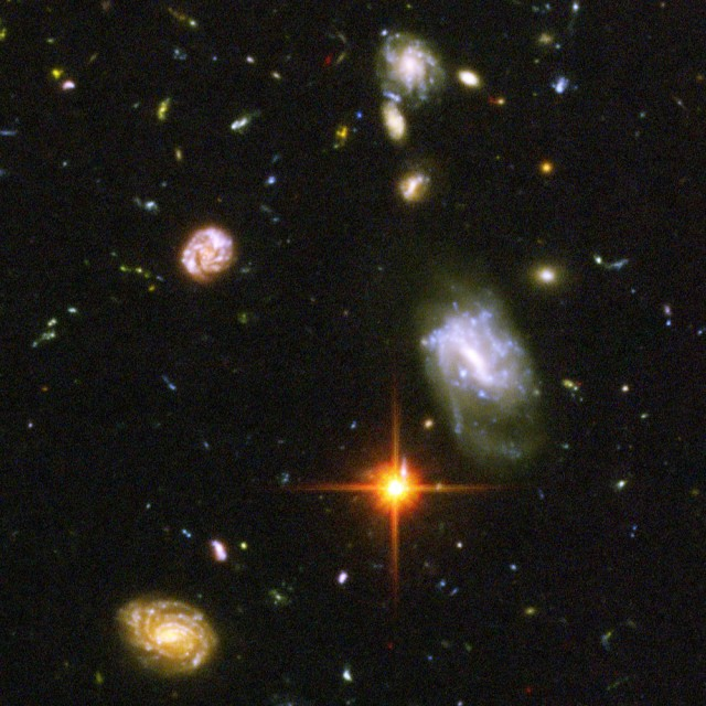 Some of the earliest galaxies we've seen were spotted in the Hubble Deep Field images.